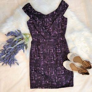 Milly of New York Purple Sheath Dress Retro Sz 6